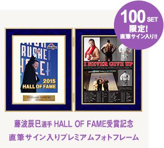 藤波辰爾「2015 HALL OF FLAME 受賞記念」 直筆サイン入りフォトフレーム